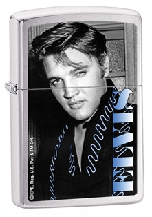 Elvis Blue High Polish Chrome Zippo - Signature photo