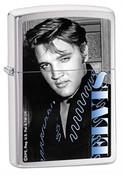 Elvis Blue High Polish Chrome Zippo - Signature