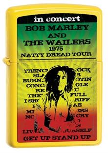 Bob Marley 1975 Tour Yellow Zippo photo