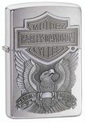 Harley Davidson Made in USA High Polish Chrome Zippo