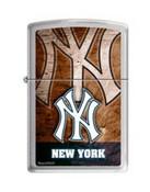 NY Yankees Satin Chrome Zippo