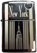 NY Empire State Building Polish Chrome Zippo