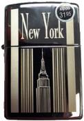 NY Empire State Building Polish Chrome Zippo