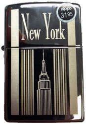 NY Empire State Building Polish Chrome Zippo Photo