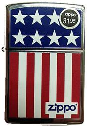 US Flag Stars and Stripes Polish Chrome Zippo Photo