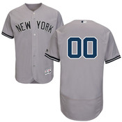 NY Yankees Authentic Personalized Flex Base Road Jersey