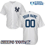 NY Yankees Replica Personalized Home Jersey - ships today