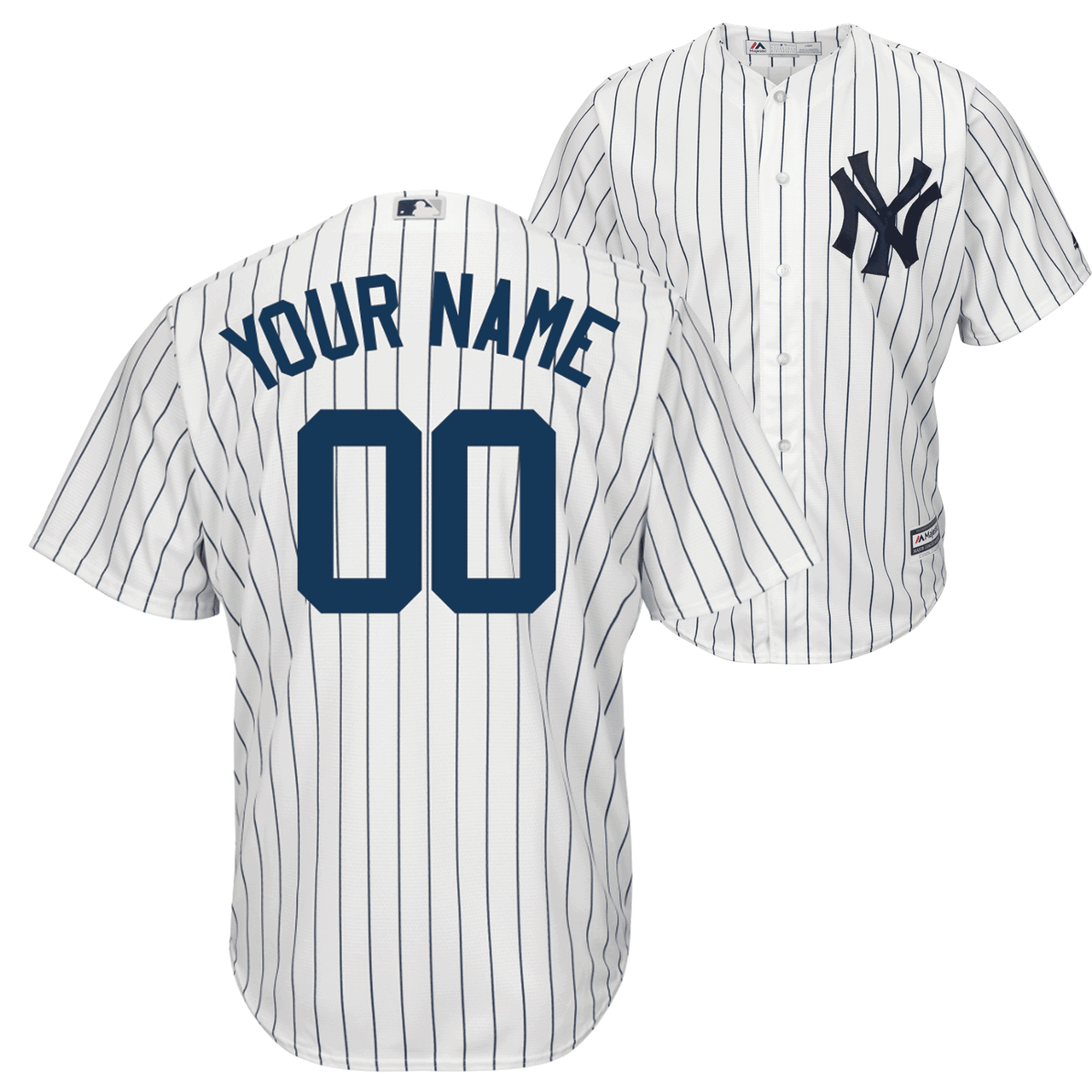 NY Yankees Replica Personalized Home Jersey photo