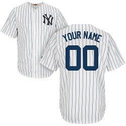 NY Yankees Cooperstown Personalized Home Jersey Photo