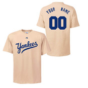NY Yankees Personalized Cooperstown Adult T-Shirt