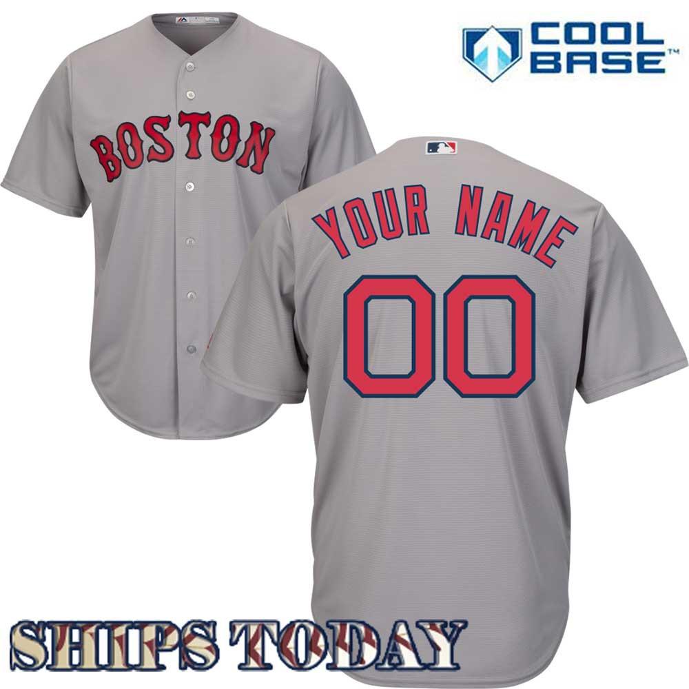 Boston Red Sox Replica Personalized Road Jersey 451f90a2572