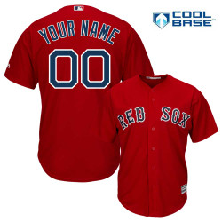 huge selection of 0d35b caf2c Boston Red Sox Replica Personalized Red Jersey
