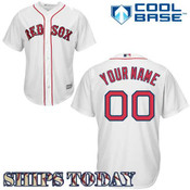 Boston Red Sox Replica Personalized Youth Home Jersey - ships same day