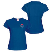 Chicago Cubs Personalized Ladies Royal T-Shirt
