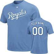 Kansas City Royals Personalized Lt Blue Adult T-Shirt