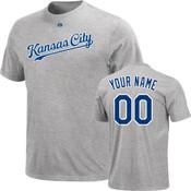 Kansas City Royals Personalized Grey Adult T-Shirt