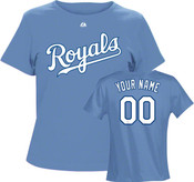 Kansas City Royals Personalized Ladies Lt Blue T-Shirt