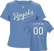 Kansas City Royals Personalized Ladies Lt Blue T-Shirt