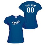 Kansas City Royals Personalized Ladies Royal Blue T-Shirt