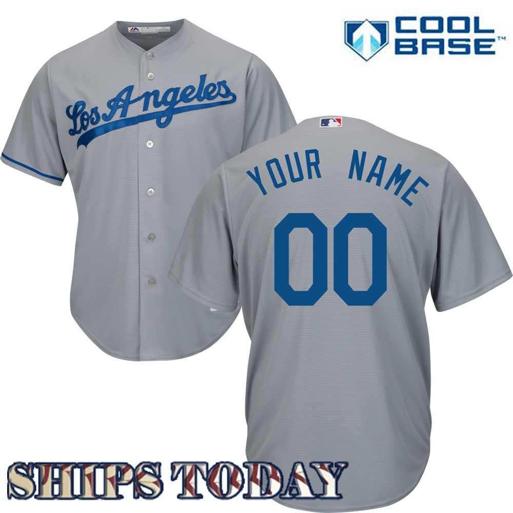 LA Dodgers Replica Personalized Road Jersey e4e7f5a639e