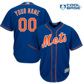 NY Mets Replica Personalized Royal Blue Alt Jersey
