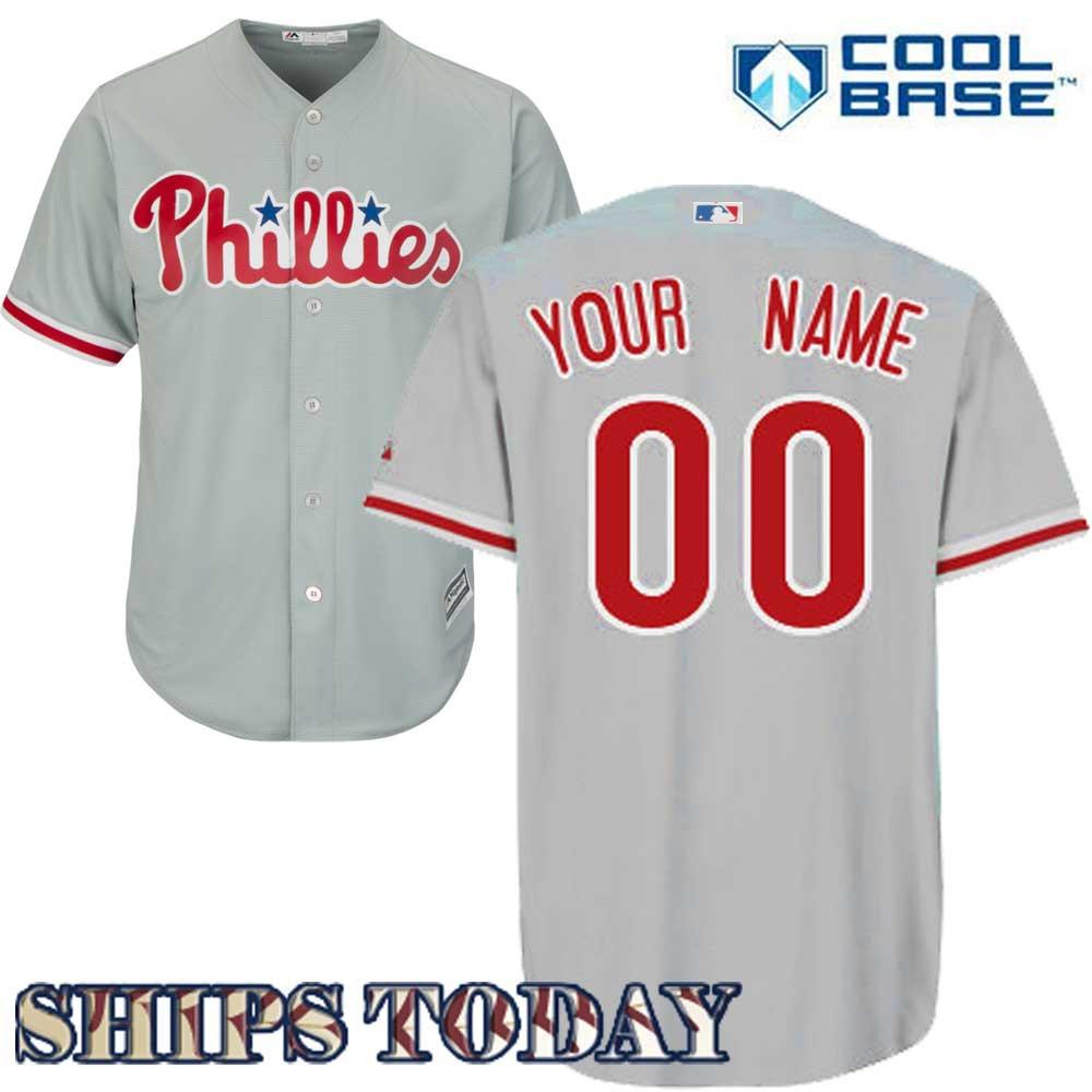 Philadelphia Phillies Replica Personalized Road Jersey 469916e6c76