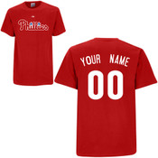 Philadelphia Phillies Personalized Red Adult T-Shirt