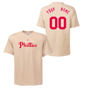 Philadelphia Phillies Personalized Cooperstown Ivory Adult T-Shirt