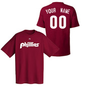 Philadelphia Phillies Personalized Cooperstown Maroon Adult T-Shirt