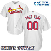 St Louis Cardinals Replica Personalized Home Jersey - ships today