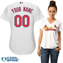 St Louis Cardinals Replica Personalized Ladies Home Jersey Photo