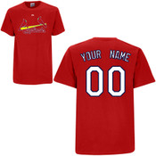 St Louis Cardinals Personalized Red Adult T-Shirt