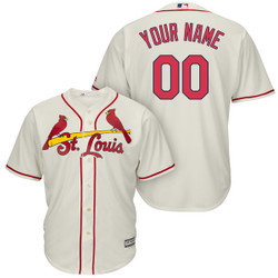 san francisco 53a78 e0f0e St Louis Cardinals Personalized Replica Ivory Alt Jersey