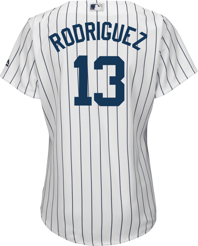 Alex Rodriguez NY Yankees Replica Ladies Home Jersey - back photo