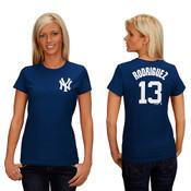 NY Yankees Ladies Replica Alex Rodriguez Fashion Tee