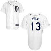 Detroit Tigers Adult Replica Alex Avila Home Jersey