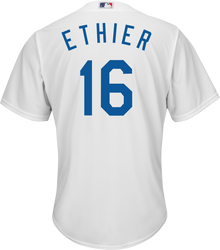 Andre Ethier LA Dodgers Replica Adult Home Jersey Photo