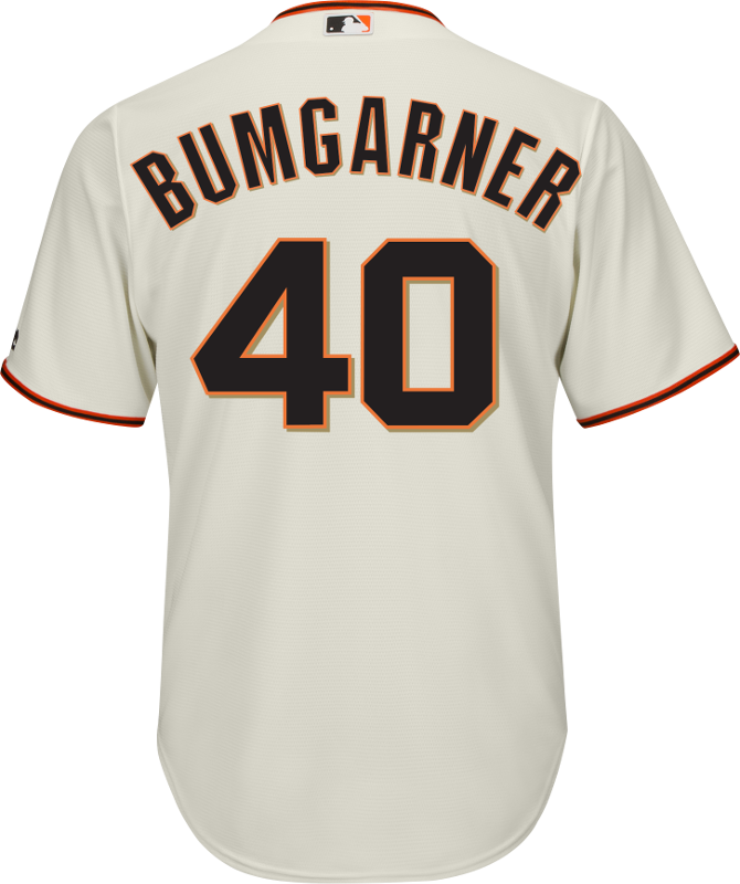 Madison Bumgarner SF Giants Replica Adult Home Jersey photo