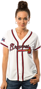 Atlanta Braves Replica Ladies Home Jersey