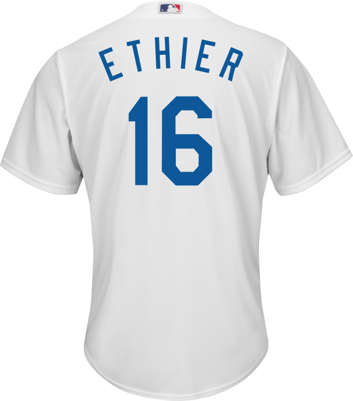 Andre Ethier LA Dodgers Replica Youth Home Jersey photo