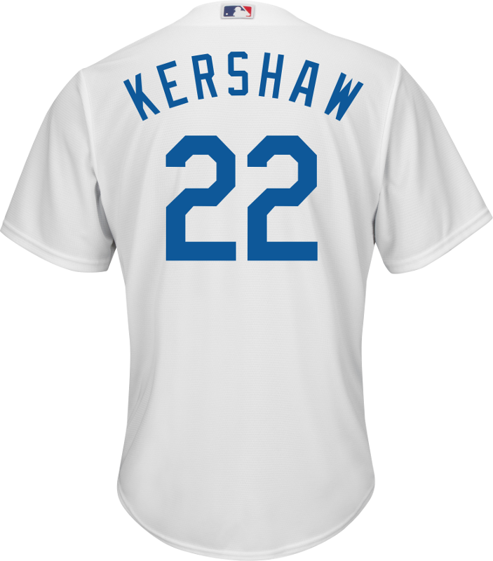 new product bf100 649f1 Clayton Kershaw LA Dodgers Replica Youth Home Jersey