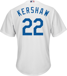 Clayton Kershaw LA Dodgers Replica Youth Home Jersey Photo