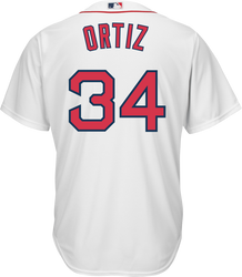 David Ortiz Boston Red Sox Replica Youth Home Jersey Photo