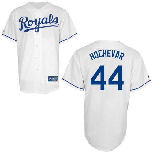 Kansas City Royals Youth Replica Luke Hochevar Home Jersey photo