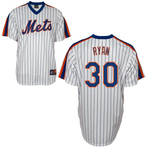 new arrival 28a62 3cdb5 Nolan Ryan Jersey - White New York Mets Cooperstown Throwback Jersey