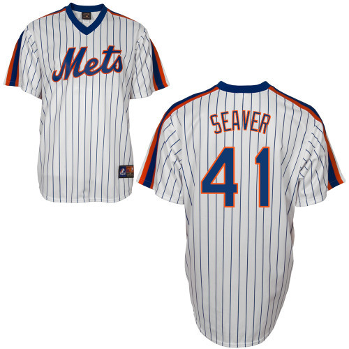 huge selection of f4850 764e5 Tom Seaver Jersey - White New York Mets Cooperstown Throwback Jersey