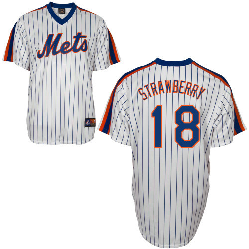 online store 1532f 99c7c Darryl Strawberry Jersey - White New York Mets Cooperstown Throwback Jersey