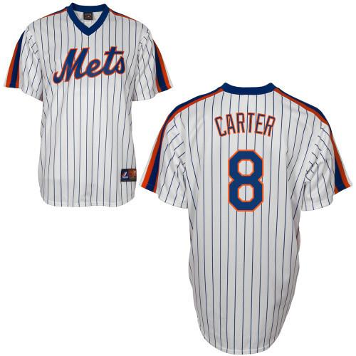 detailing 16c61 46c23 Gary Carter Jersey - White New York Mets Cooperstown Throwback Jersey