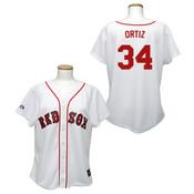 David Ortiz  Boston Red Sox Ladies Replica Jersey
