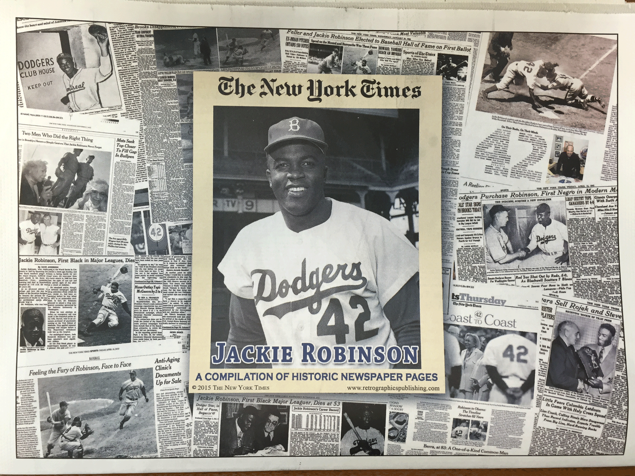 Jackie Robinson Historic Newspaper Compilation - NY Times photo